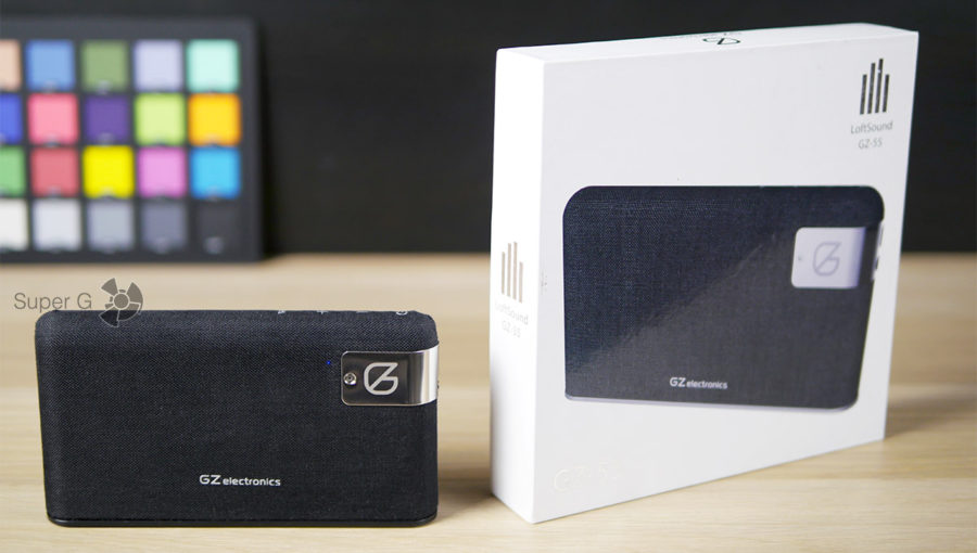 Распаковка GZ electronics LoftSound GZ-55 - коробка из-под колонки