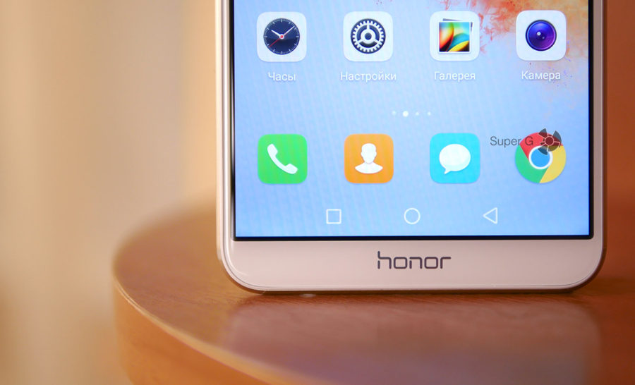 Минимальные рамки дисплея Honor 7X