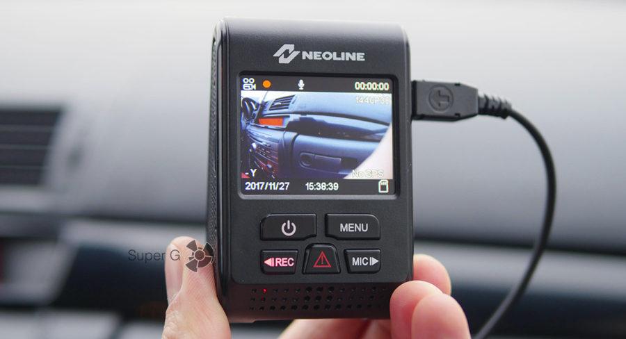 Кнопки и управление видеорегистратором Neoline G-TECH X37