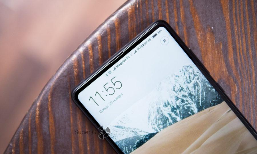 Xiaomi Mi MIX 2 экран с соотношением сторон 18:9 и диагональю 5,99 дюймов
