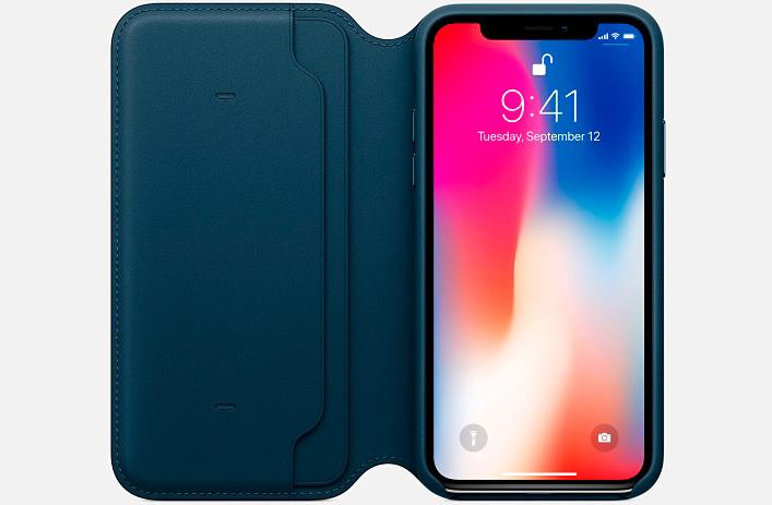 iPhone X чехол Folio