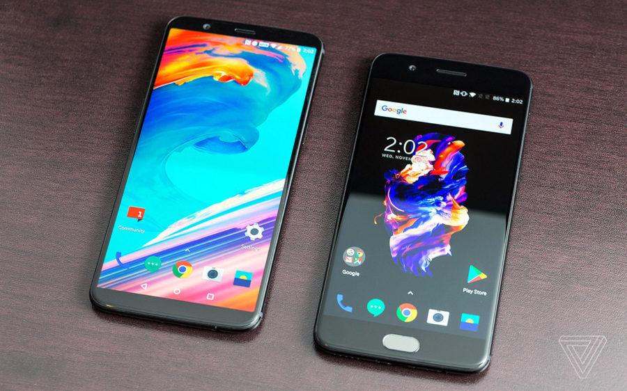 OnePlus 5T (слева) и OnePlus 5 (справа)