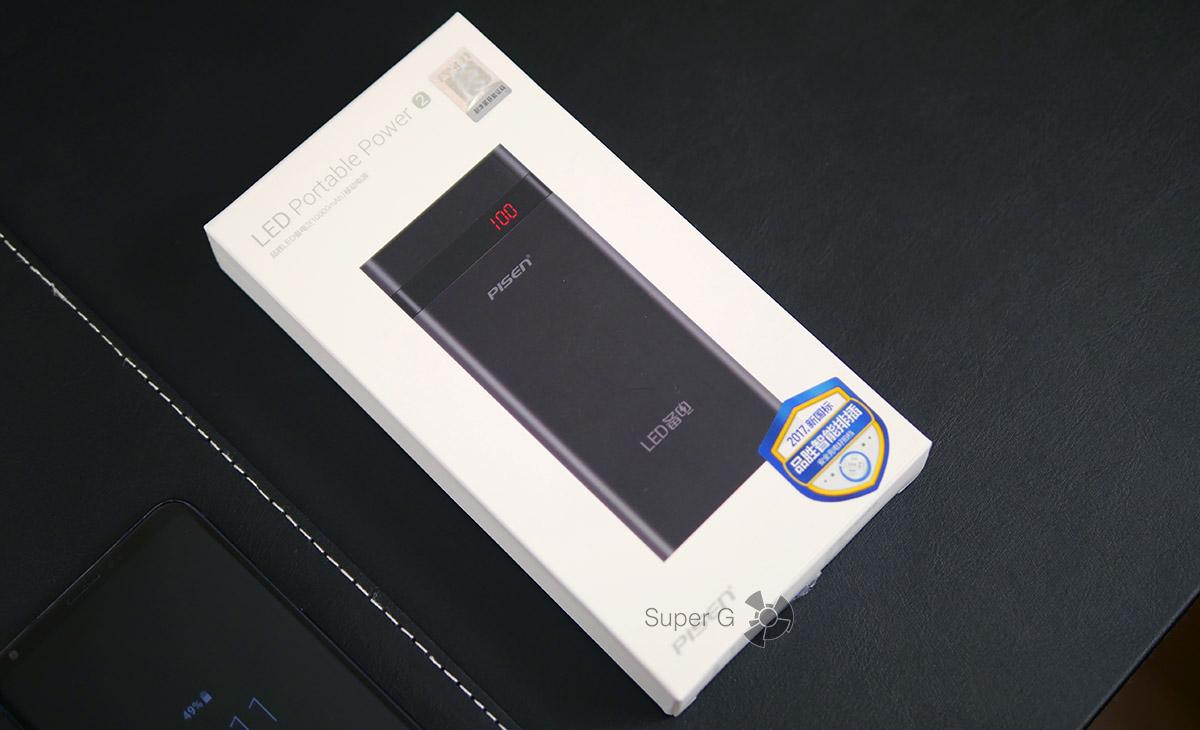 Коробка из-под Pisen 10000 mAh