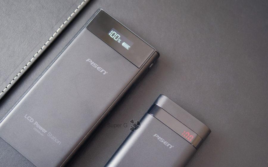 Pisen 20000 mAh (слева) и Pisen 10000 mAh (справа)