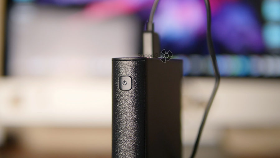Кнопка запуска зарядки и включения дисплея Pisen 20000 mAh