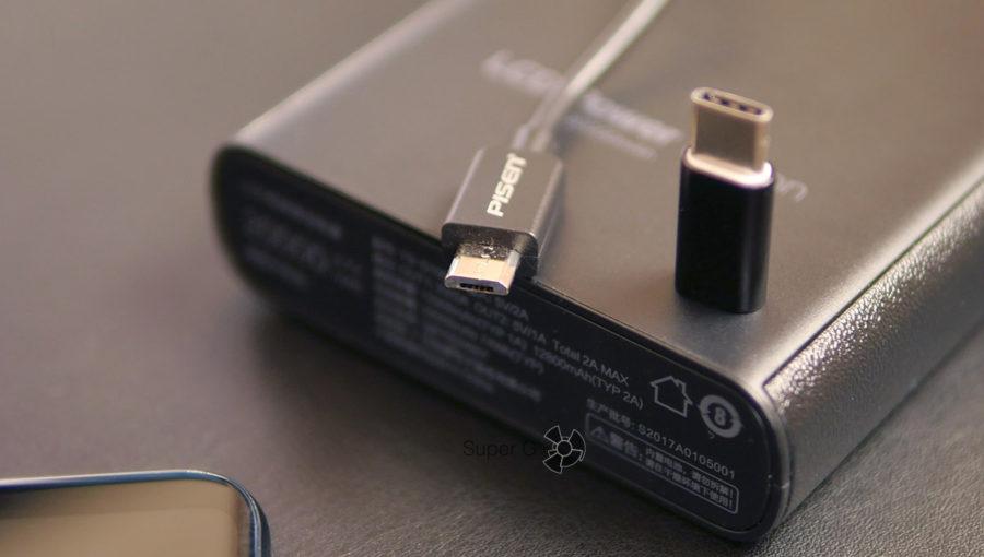 Оба аккумулятора Pisen подзаряжаются при помощи Micro USB кабеля и разъёма