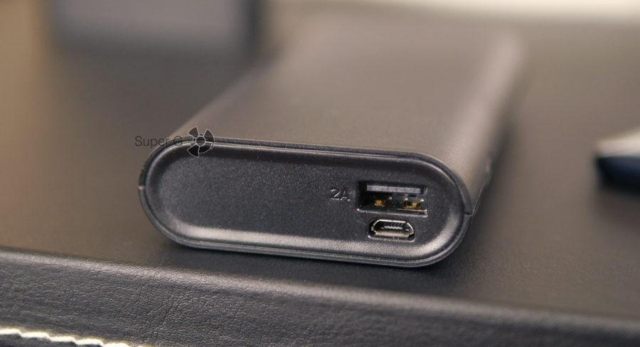 Pisen 10000 mAh имеет только один USB порт для зарядки