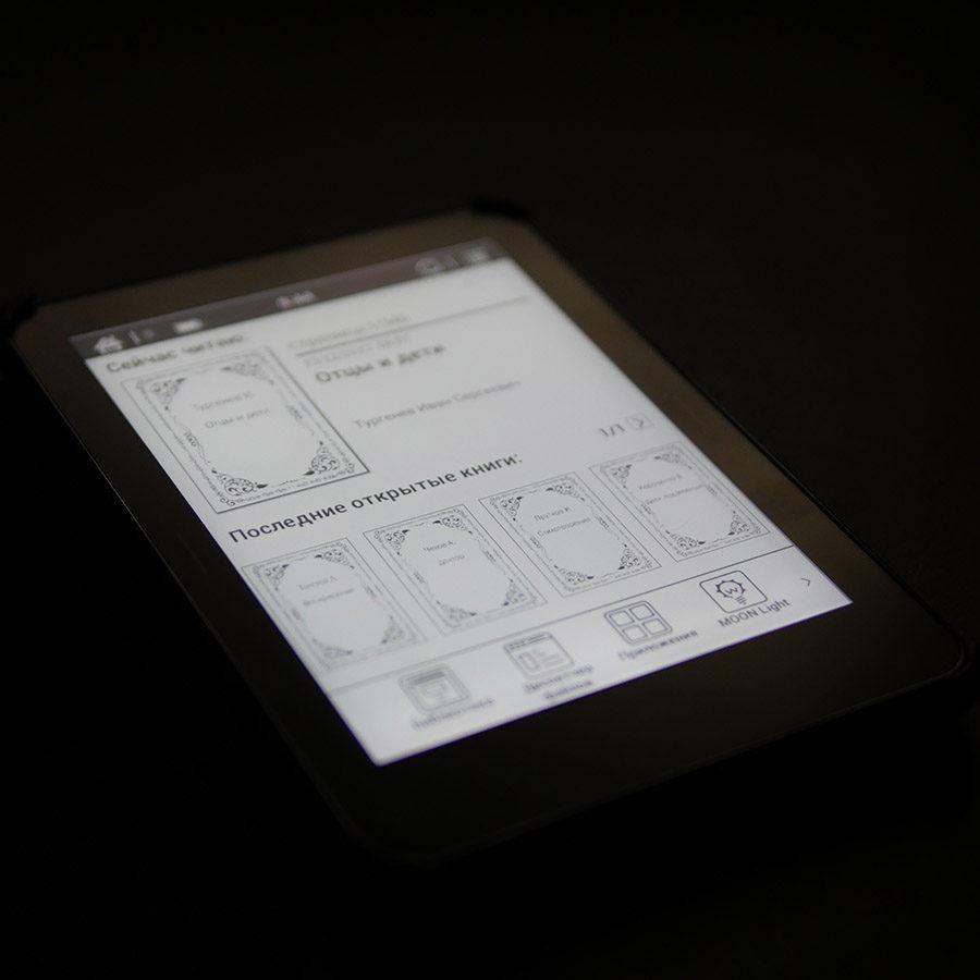 Подсветка MOON Light в электронной книге ONYX BOOX Monte Cristo 3