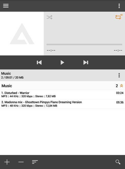 Приложение AIMP для прослушивания музыки и аудиокниг на ONYX BOOX Robinson Crusoe 2