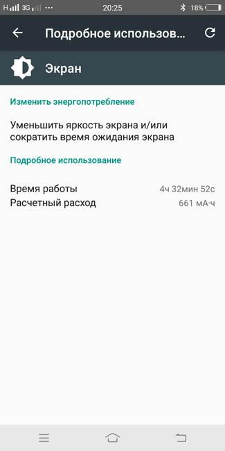 Режим работы экрана Vivo V7