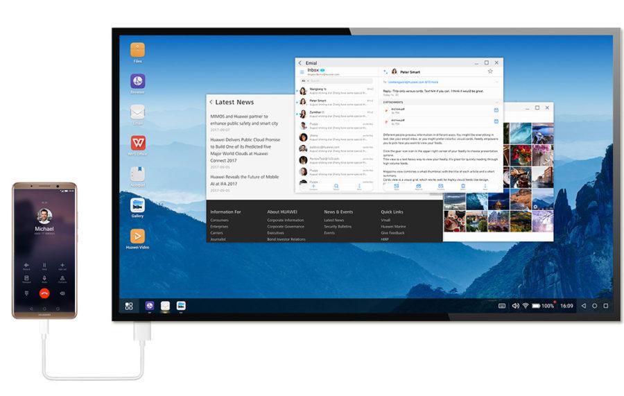 Huawei Mate 10 Pro PC Mode подключение к компьютеру