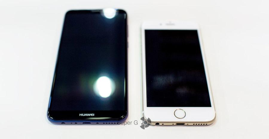 Сравнение Huawei Nova 2i с конкурентами (iPhone 6)
