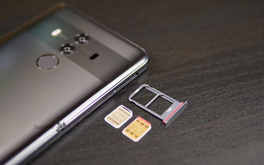 Слот для SIM-карт (формат Nano) Huawei Mate 10 Pro