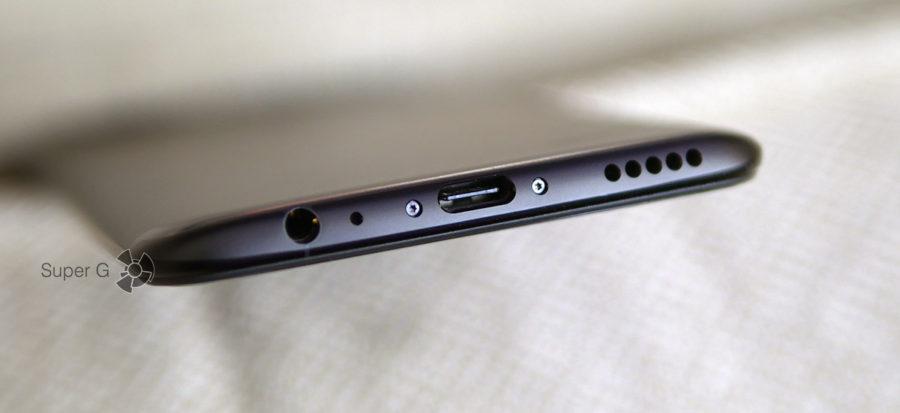Разъём USB C и аудиовыход для наушников OnePlus 5T