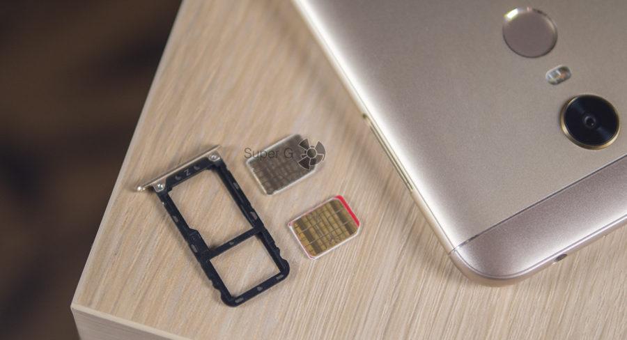 Лоток для SIM-карт в Xiaomi Redmi 5 Plus комбинированный