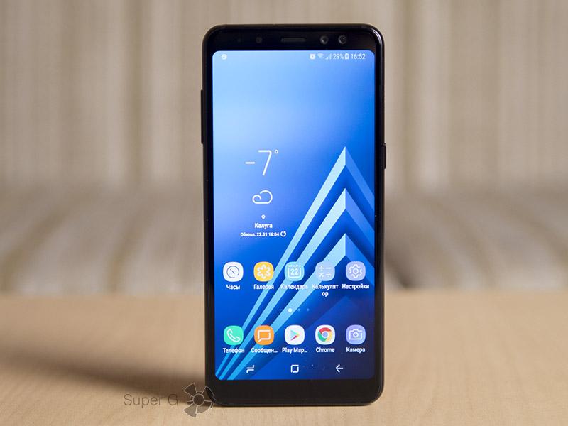 Как на самом деле выглядят боковые рамки экрана Samsung Galaxy A8 (2018)