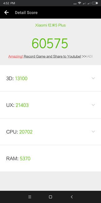 Тест производительности Xiaomi Redmi 5 Plus в AnTuTu