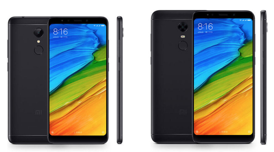 Чёрные Xiaomi Redmi 5 и Xiaomi Redmi 5 Plus