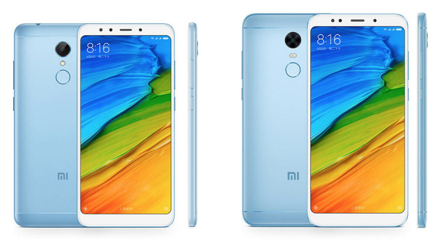 Голубые Xiaomi Redmi 5 и Xiaomi Redmi 5 Plus