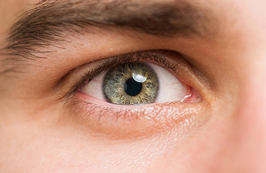 photo of a close-up eye