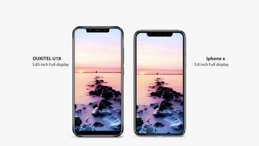 Oukitel U18 vs iPhone X