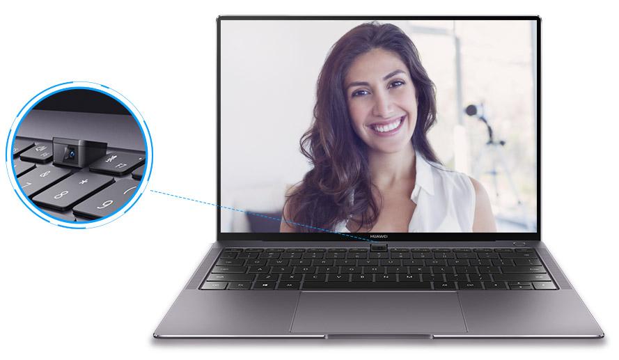 Камера HUAWEI MateBook X Pro встреона прямо в кнопку