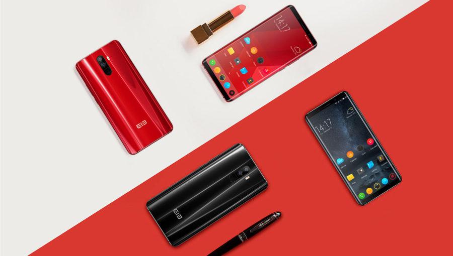 Elephone U черный и красный
