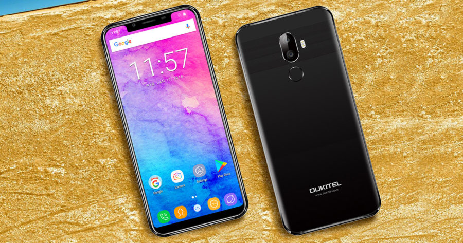 OUKITEL U18 front and back side