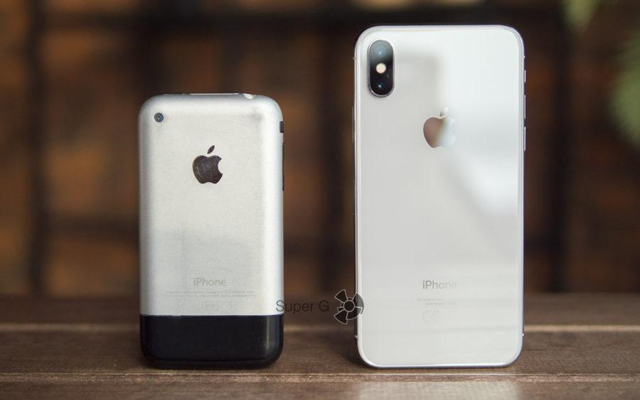 iPhone первого поколения и iPhone X