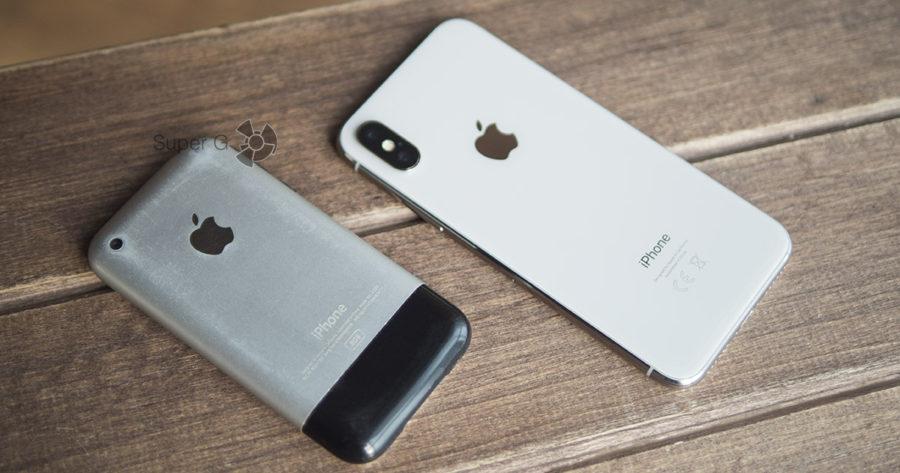 iPhone 2G и iPhone X