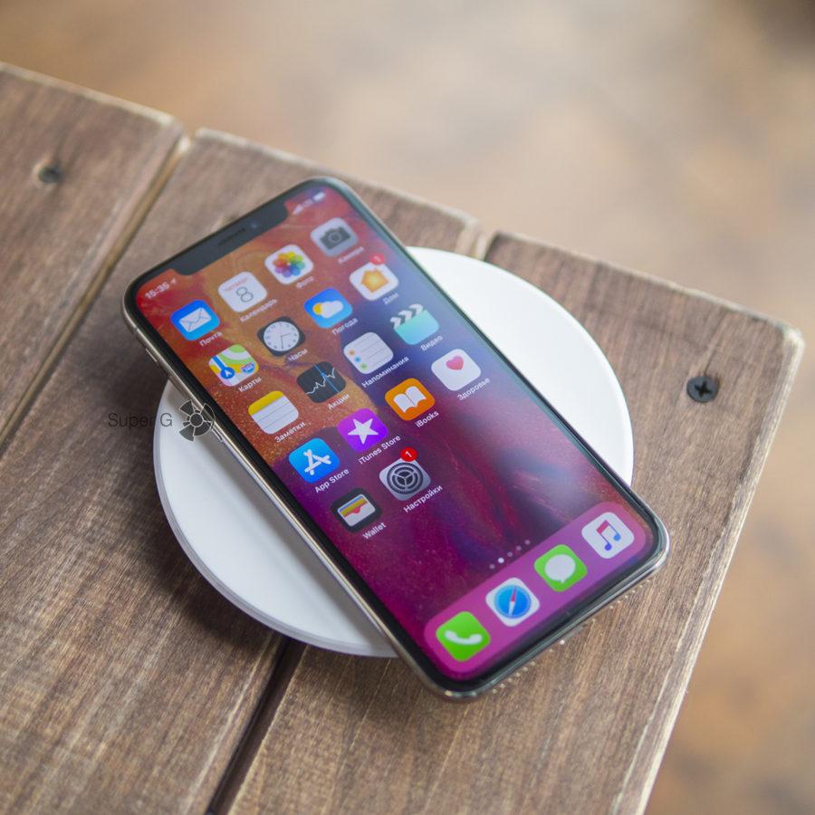 iPhone X и беспроводная зарядка Belkin