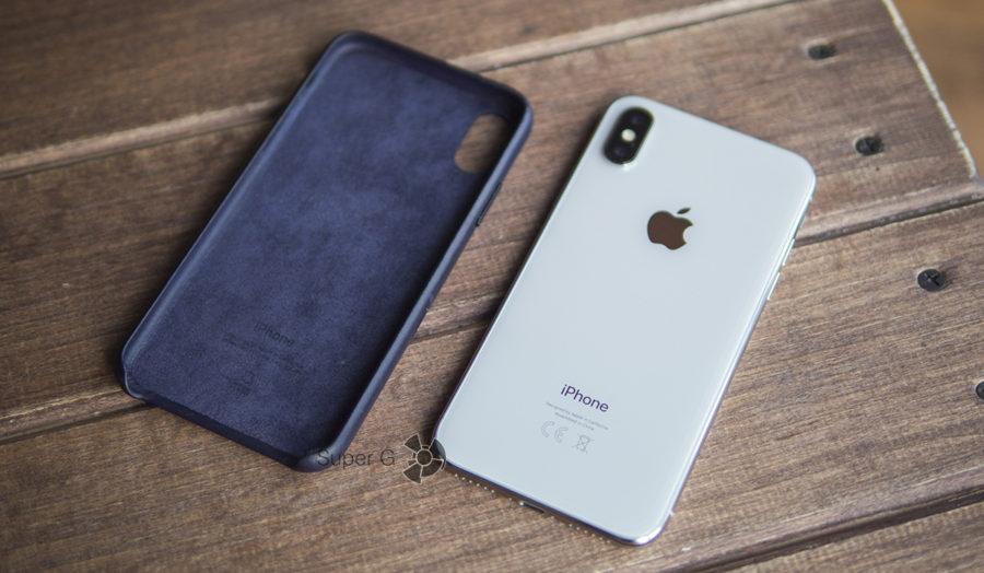 Чехол для iPhone X кожаный