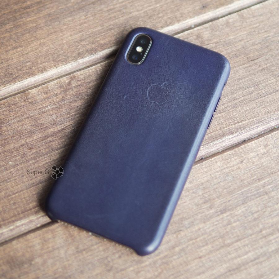 Как выглядит кожаный чехол для iPhone X спустя месяц использования