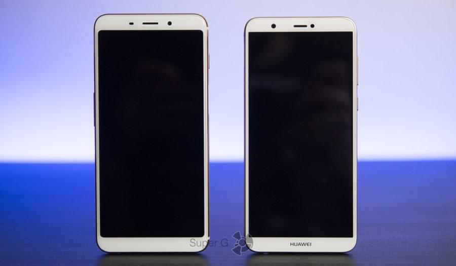 Слева Meizu M6s, справа Huawei P smart