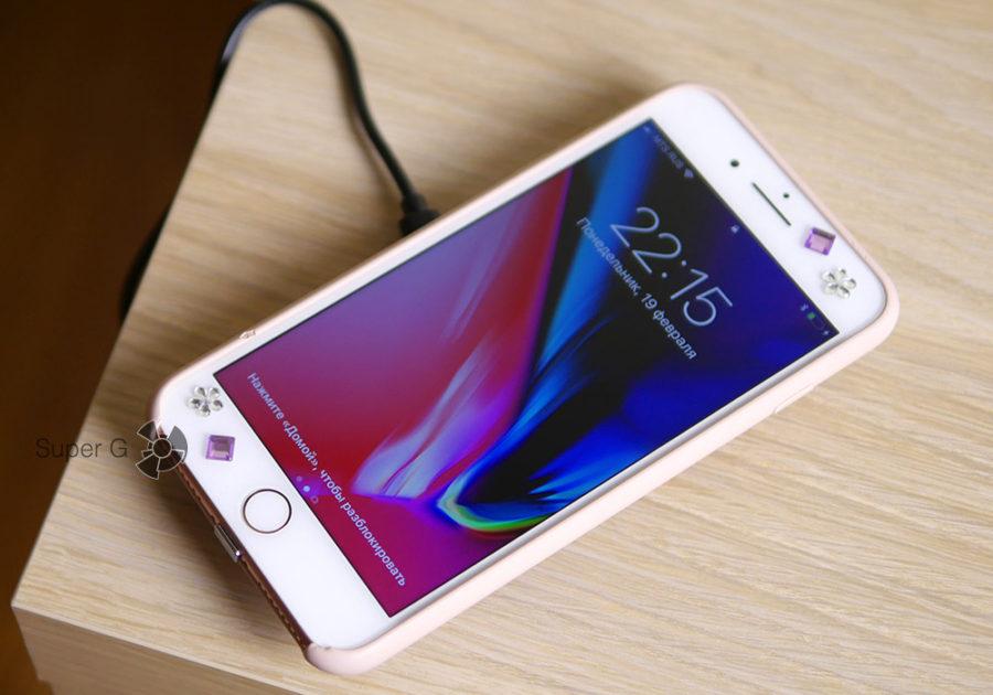 Беспроводная зарядка Qi к iPhone 7 Plus
