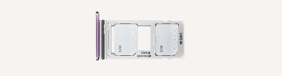 Samsung Galaxy S9 лоток под SIM-карты комбинированный с Micro SD