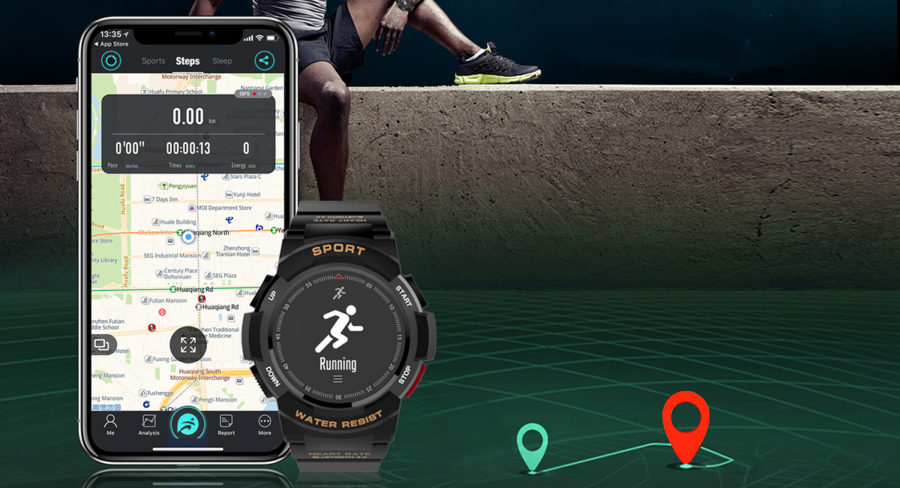Smart watch NO.1 F6 and app for smartphone