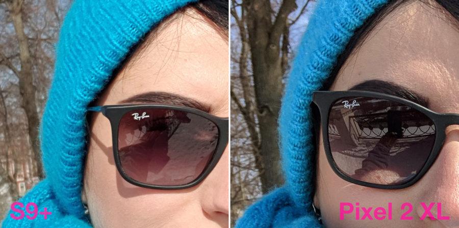 Сравнение фронтальных камер Samsung Galaxy S8 Plus и Google Pixel 2 XL селфи