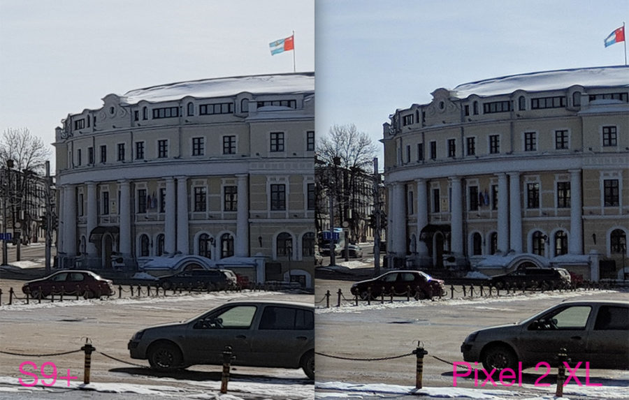 Сравнение камер Samsung Galaxy S9 Plus и Google Pixel 2 XL - HDR