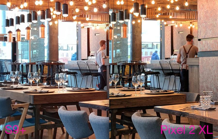Сравнение камер Samsung Galaxy S9 Plus и Google Pixel 2 XL - снято в помещении