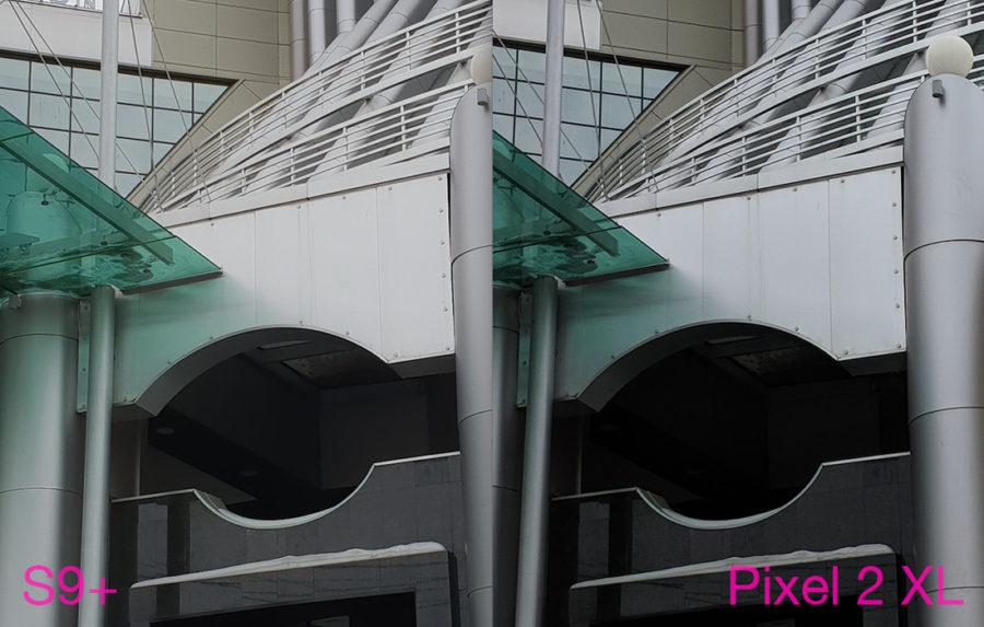 Сравнение камер Samsung Galaxy S9 Plus и Google Pixel 2 XL - пасмурно
