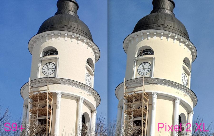 Сравнение камер Samsung Galaxy S9 Plus и Google Pixel 2 XL - солнечно