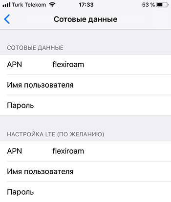 Настройка точки доступа для работы Flexiroam
