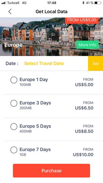 Тарифы на роуминг от Flexiroam для стран Европы