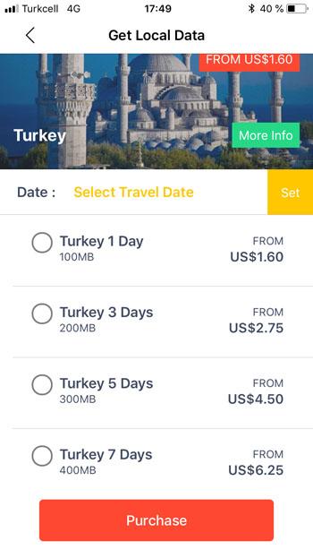 Тарифы на роуминг через Flexiroam в Турции