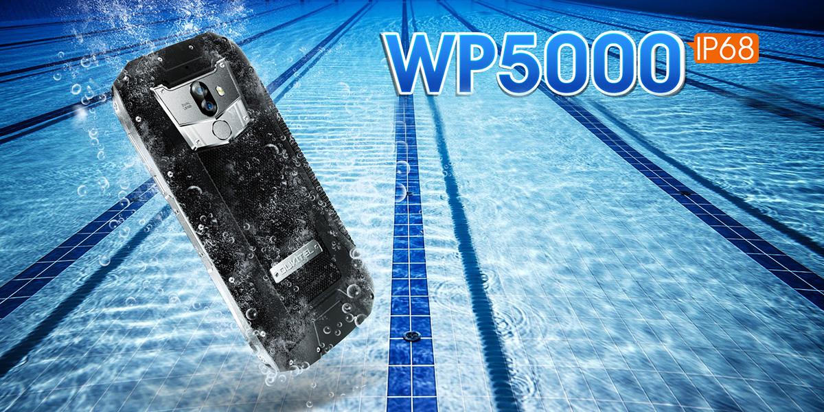 OUKITEL WP5000 устойчив к попаданию влаги, заморозке и падениям