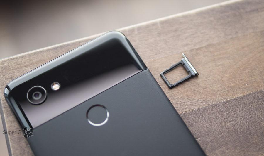 Google Pixel 2 XL имеет только одну SIM-карту