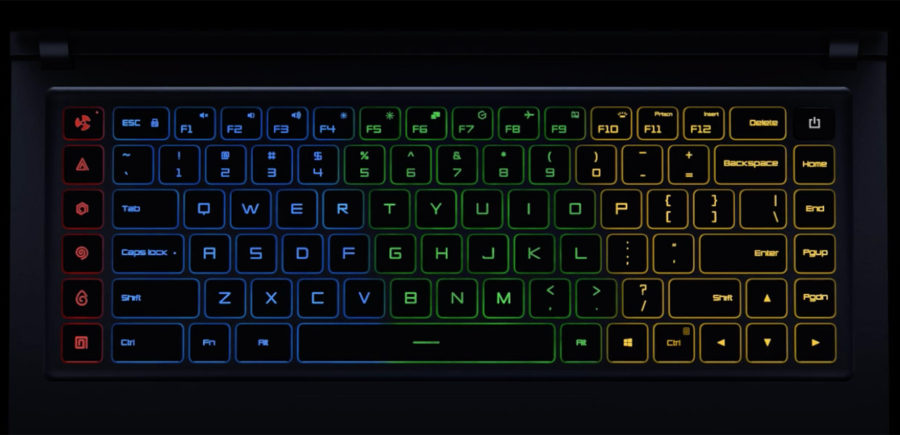 Xiaomi Mi Gaming Notebook 15.6 клавиатура с цветной подсветкой