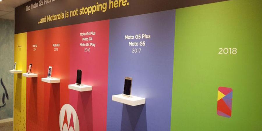 Стенд Lenovo (Motorola) на MWC 2018