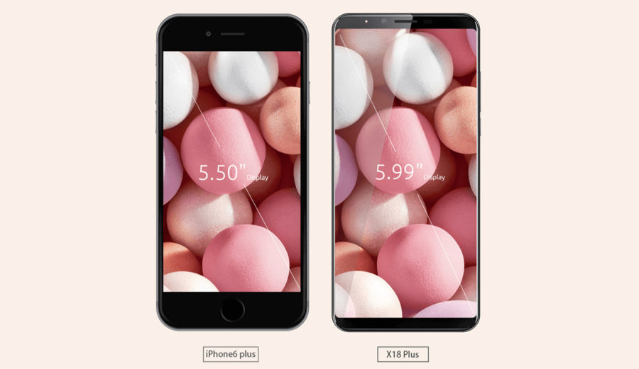 Cubot X18 Plus и iPhone 6 Plus